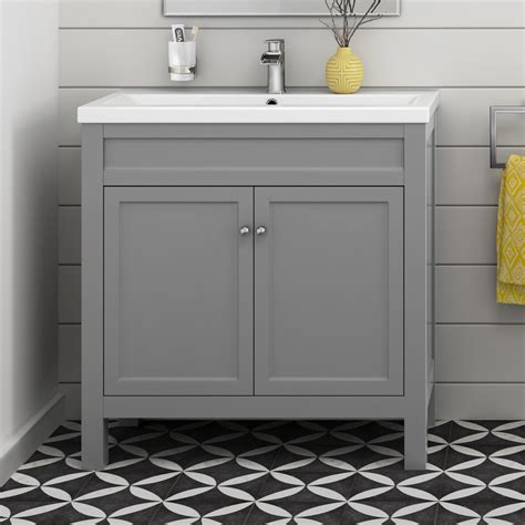 Grey Bathroom Cabinets by Traditional Bathroom Furniture Storage Vanity Unit Sink