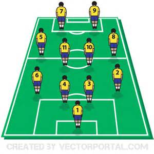 Football Board Template by Soccer Football Tactics Board With Players On Field