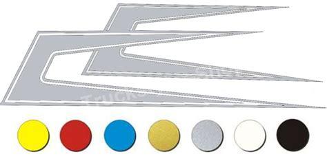 Folien Aufkleber Lkw by Set Lkw Aufkleber Zacken Decals 100x32 5cm Silber Ebay