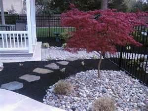 Landscape Rock Versus Mulch Refreshing A Swimming Pool Landscape All About The House