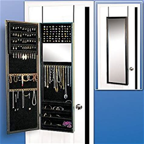 The Door Mirror Jewelry Organizer by The Door Wall Mounted Hanging Jewelry