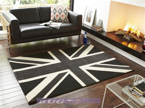 Modern Black And White Rugs Large Modern Black White And Grey Union Rug 120x170cm Ebay