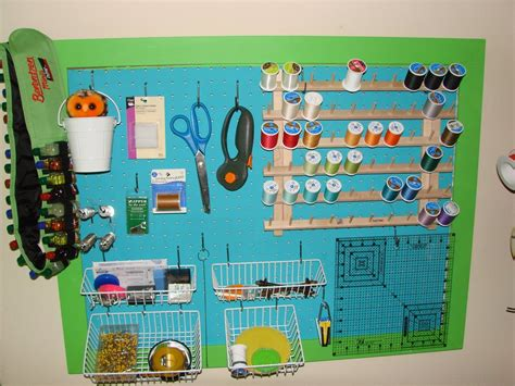 sewing room pegboard ideas by your sewing room organization pegboard