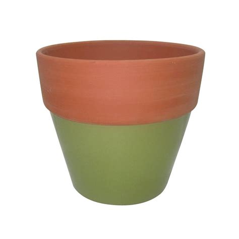 4 5 in green glazed assortment terra cotta flower pot