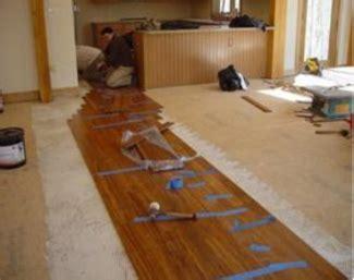 Bamboo Flooring Installation, Installing Bamboo Floors
