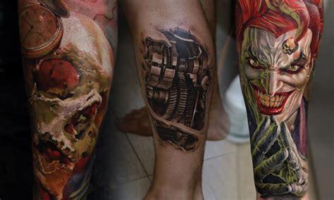 tattoo 3d en la pierna tatuajes pierna