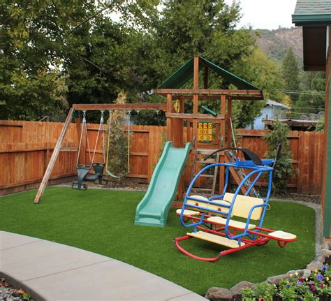 playground landscaping bend or backyard playground grass after landscape
