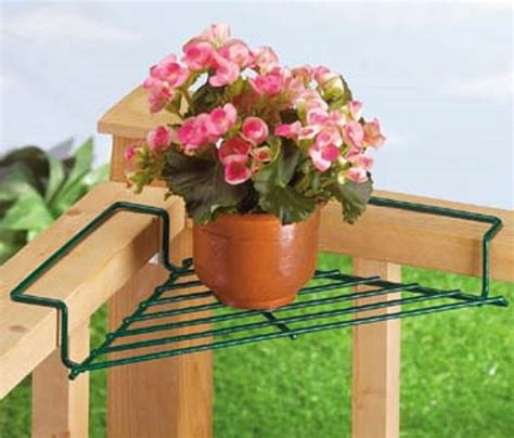 Deck Railing Flower Planters by Corner Deck Railing Planter Flower Pot Rail Wire Shelf