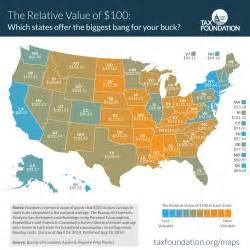 the relative cost of living by state political calculations