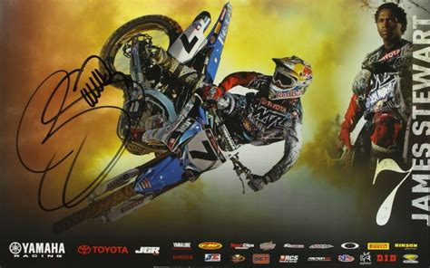 signed motocross james stewart signed motocross 17x11 poster pa loa