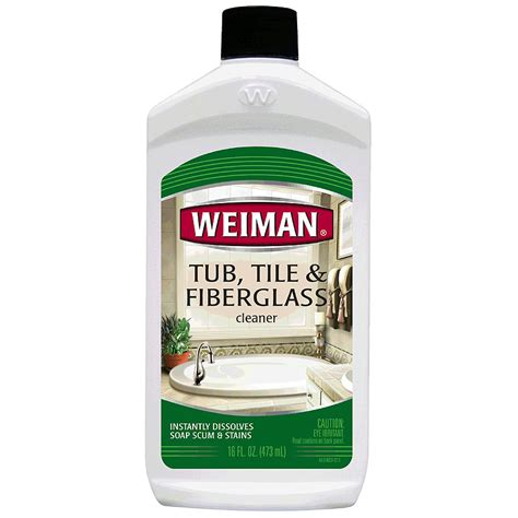 fiberglass bathtub cleaner weiman tub tile fiberglass cleaner 16oz