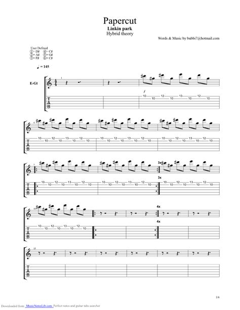 hit the floor linkin park tab 28 images papercut guitar pro tab by linkin park