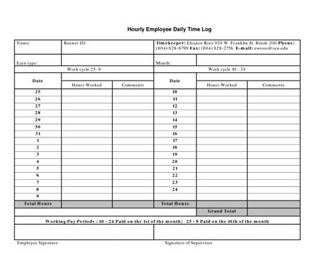 8 daily work log templates word excel pdf formats