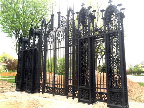 iron mansion wrought iron gate and fencing to surround miller