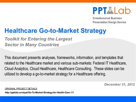 healthcare marketing plan template healthcare go to market strategy