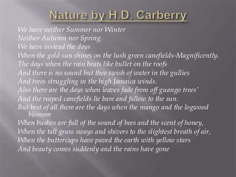Themes Of Nature By Hd Carberry | nature by h d carberry