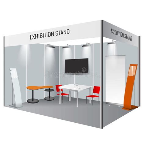 booth design illustrator creative exhibition stand design booth template