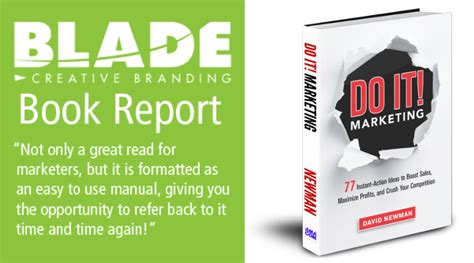 Brain Book Report by Blade Book Report Series Do It Marketing By David Newman