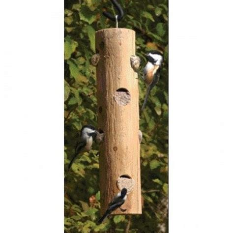 log jammer suet bird feeder
