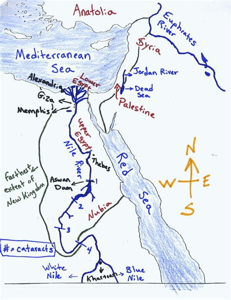 printable map ancient egypt mr guerriero s blog maps of ancient egypt homeschooling
