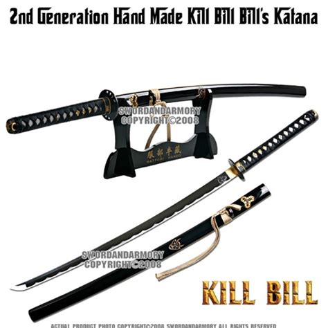 Pedang Samurai Katana Kill Bill Black Gold handmade kill bill bill s samurai katana sword sharp w stand cleaning kits