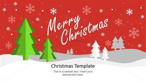 Merry Christmas Card Design Slide Slidemodel Merry Templates