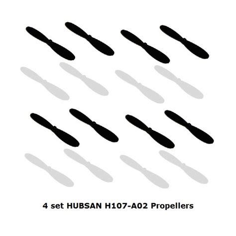Parts Propeller Blade Set Hubsan X4 H107 Series 4pcs 4 set hubsan x4 replacement rotor blades baserc toys hobby