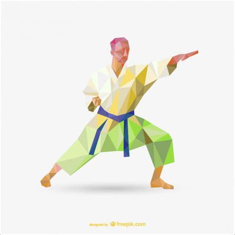 imagenes de niños karate vector poligonal de k 225 rate descargar vectores gratis
