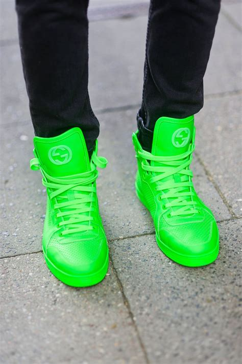 neon green gucci sneakers 15 best images about gucci on trainers high