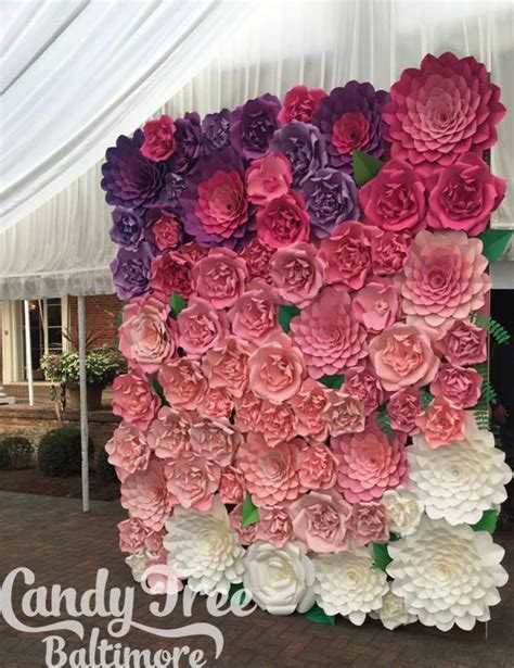How To Make Paper Flower Backdrop - 17 best ideas about large paper flowers 2017 on