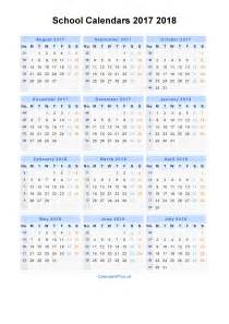 Kalender 2017 Und 2018 School Calendars 2017 2018 Calendar From August 2017 To
