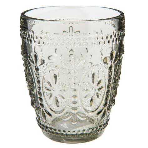 maison du monde bicchieri bicchiere in vetro grigio floral maisons du monde