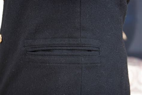 Outer Pocket Navy russian navy wool pea coat bushlat