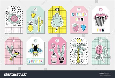 gift vector label elements webbyarts summer gift tags labels patches stickers stock vector