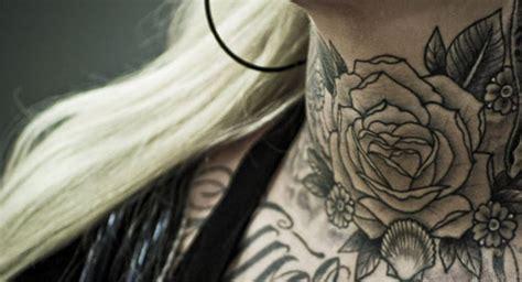 elegant rose tattoo 40 modern tattoos for neck