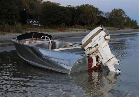 old fishing boat engine 1958 feathercraft vagabond boat vintage aluminum