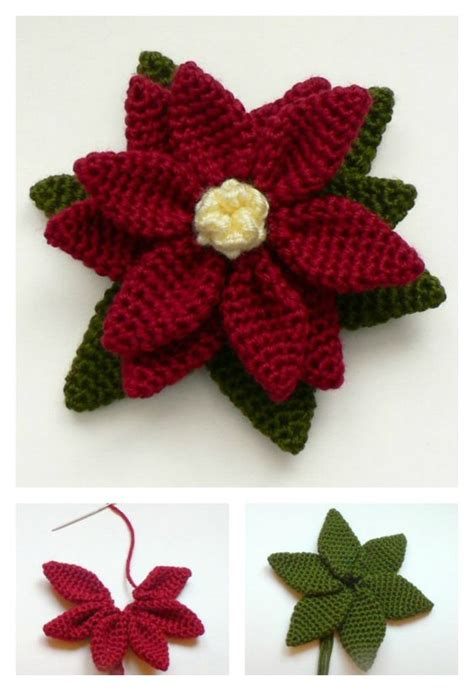 pattern for poinsettia leaf crochet poinsettia flower free patterns