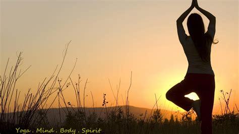 yoga  sunrise body mind  spirit  hd