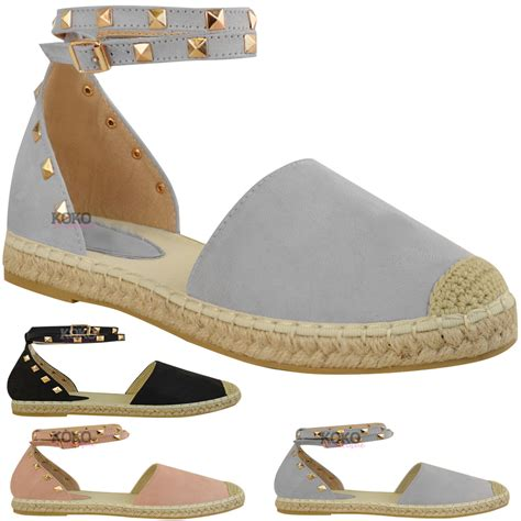 womens ankle sandals womens studded espadrilles flats ankle strappy