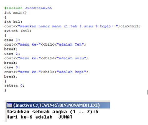 Switch Gurinda Dan Profil Rrt pengertian bentuk umum contoh program switch c informasi mengenai it