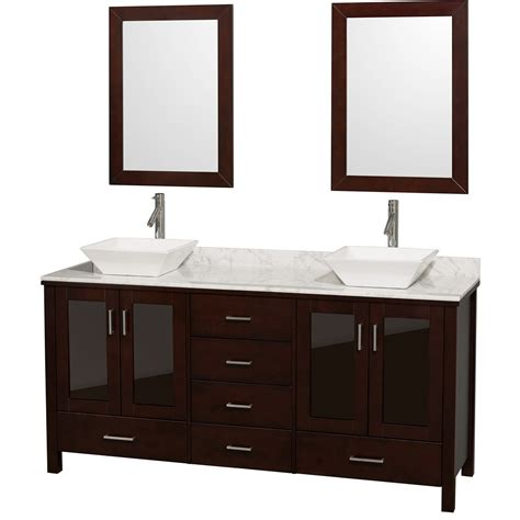 72 bathroom vanities lucy 72 quot double bathroom vanity set with vessel sinks