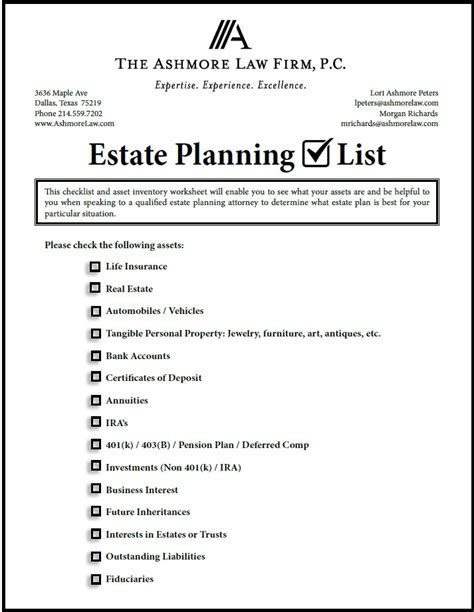 printable estate planner printables estate planning worksheet kigose thousands of