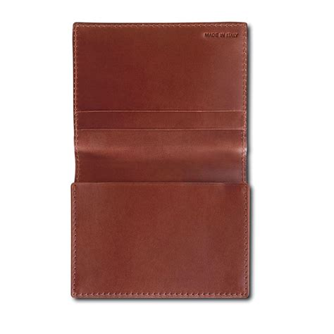 leather business card holders by pineider power elegance leather business card wallet holder with flap