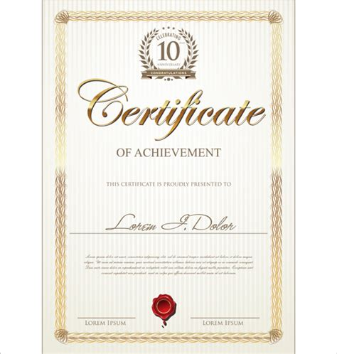 creative certificate templates design certificate on certificate design