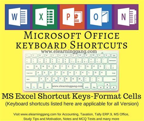 format excel shortcut format cells in excel ms excel shortcut keys