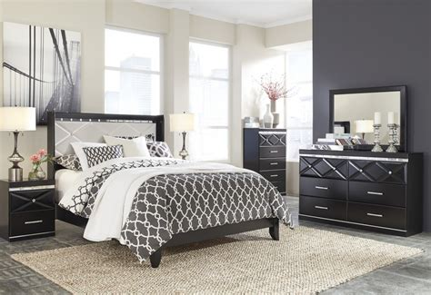 Fancee Bedroom Set by Fancee 4 Pc Bedroom Dresser Mirror Panel Bed