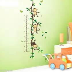 Wall Sticker For Kids Room Pegatinas De Pared Medidor Infantil Mural Monos Trepadores