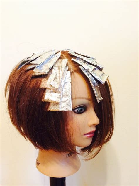foil placement for short hair foil placement for highlights pixie hairstylegalleries com