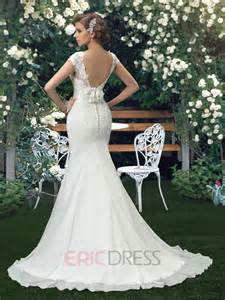 wedding dresses mermaid trumpet court backless lace trumpet mermaid wedding dress