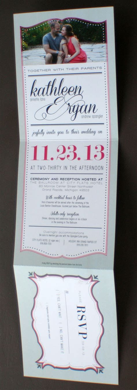 tear wedding invitations wedding invitation with tear rsvp postcard designs by spangler